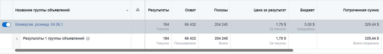 Количество покупок на сайте: 184